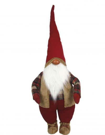 Christmas Farm Gnome Red