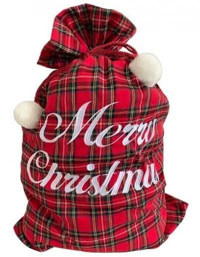 Christmas Tartan Sack