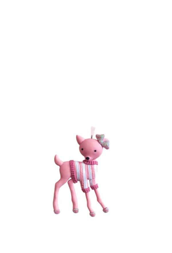 Pink Reindeer Tree Ornament