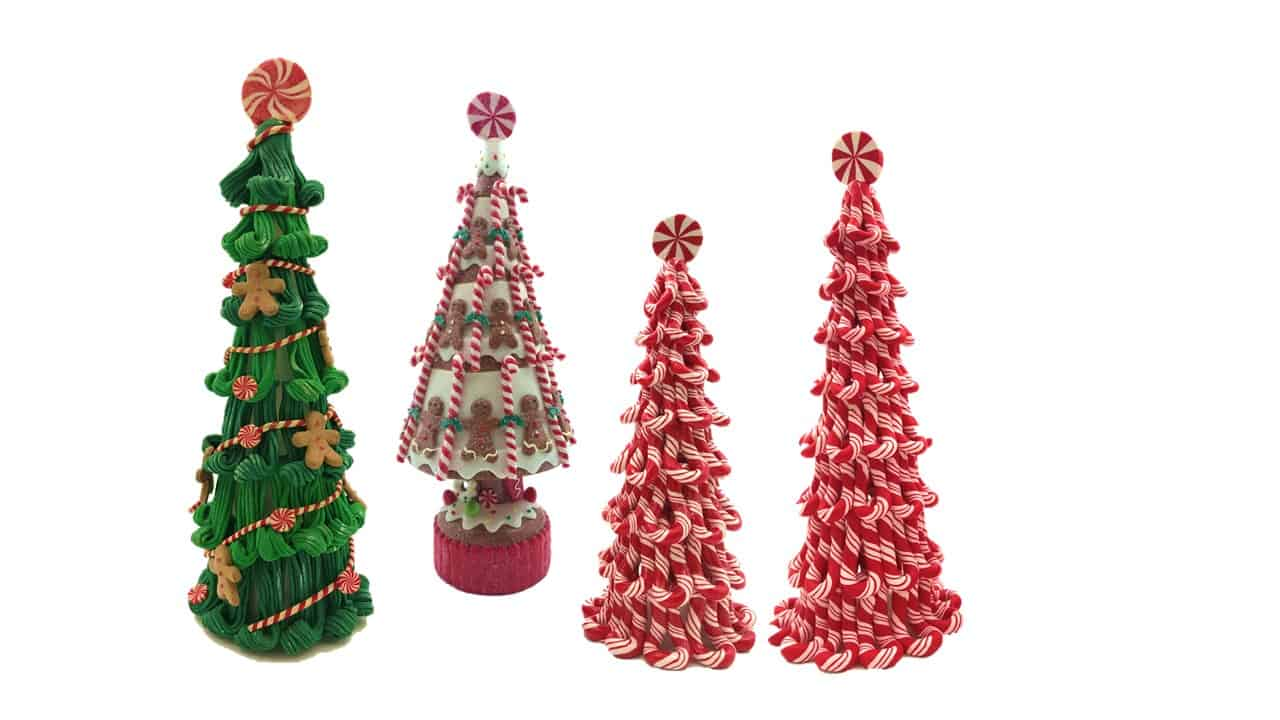 Decor Peppermint Candy Cone Tree St Nicholas Christmas Cave